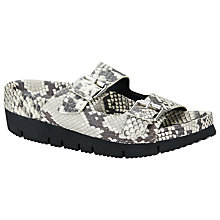 Buy Ash Takoon Snake Embossed Leather Sandals, Silver Online at johnlewis.com