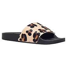 Buy KG by Kurt Geiger Mars Sliders, Leopard Pony Online at johnlewis.com