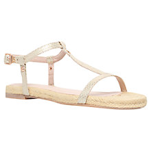 Buy KG by Kurt Geiger Millie Slim Strap Flat Sandals Online at johnlewis.com