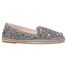Buy KG by Kurt Geiger Myrtle Embellished Slip On Espadrilles, Grey Online at johnlewis.com