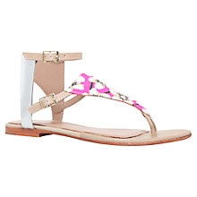 Buy Kurt Geiger Sahar Flat Sandals, Pink Fabric Online at johnlewis.com