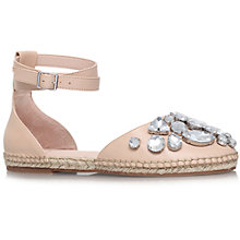 Buy KG by Kurt Geiger Moonstone Leather Espadrilles, Nude Online at johnlewis.com