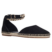 Buy KG by Kurt Geiger Magma Suede Espadrilles, Black Online at johnlewis.com