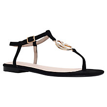 Buy KG by Kurt Geiger Million Toe Thong Sandals, Black Online at johnlewis.com