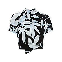 Buy Whistles Botanical Floral Crop Top, Black/White Online at johnlewis.com