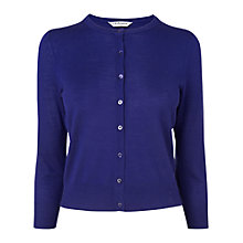 Buy L.K. Bennett Bonnie Crew Neck Cardigan, Regal Online at johnlewis.com