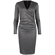 Buy Ted Baker Metallic Wrap Dress, Grey Online at johnlewis.com