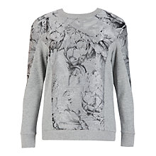 Buy Ted Baker Embellished Jacquard Jumper, Grey Online at johnlewis.com
