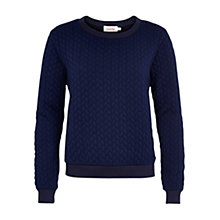 Buy Louche Cable Knit Jumper, Navy Online at johnlewis.com