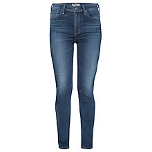 Buy A Gold E Annette High Waist Straight-leg Jeans, Blue Online at johnlewis.com