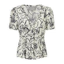 Buy Ghost Chantelle Blouse, Black/White Online at johnlewis.com