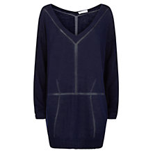Buy Nicole Farhi Linen Panelled Jumper Online at johnlewis.com