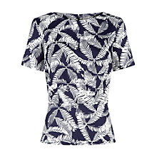 Buy People Tree Cleo Top, Navy Online at johnlewis.com