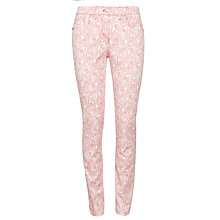 Buy Zaffiri Ella Denim Jeans, Pink/White Online at johnlewis.com