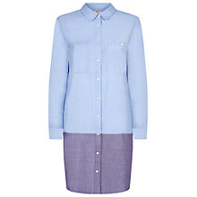 Buy People Tree Joanie Shirt Dress, Blue Online at johnlewis.com