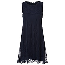 Buy Max Stripe Sleeveless Lace Dress, Navy Online at johnlewis.com