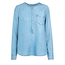 Buy Selected Femme Wilma Shirt, Med Blue Denim Online at johnlewis.com