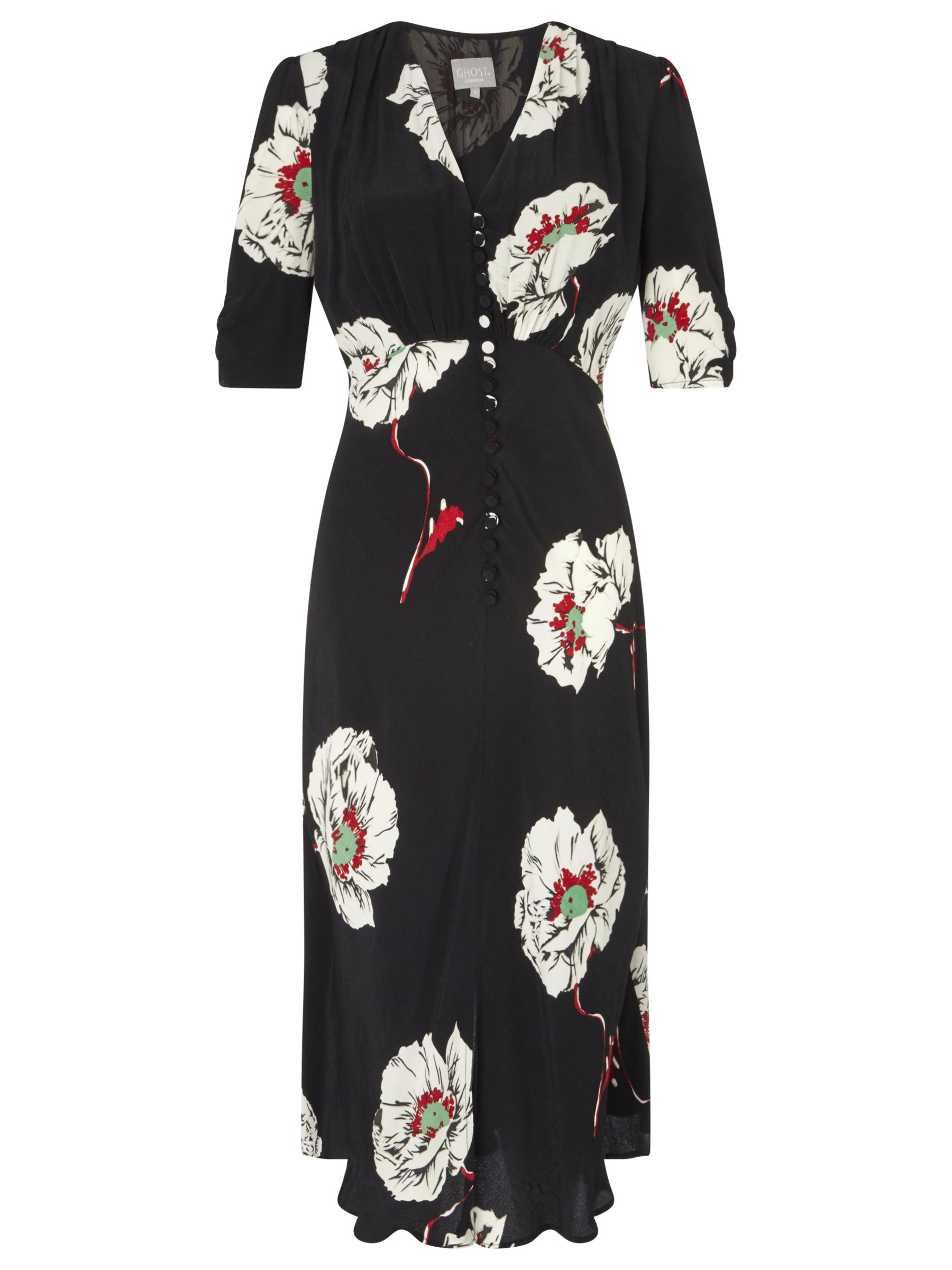 ghost sabrina floral print dress black/multi, ghost, sabrina, floral, print, dress, black/multi, xs|m|l|s, women, womens dresses, 1879299