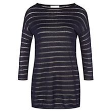 Buy Nicole Farhi Boucle Stripe Jumper, Black/Navy Online at johnlewis.com