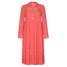 Buy Ghost Embroidered Tanya Dress, Camomille Blush Online at johnlewis.com