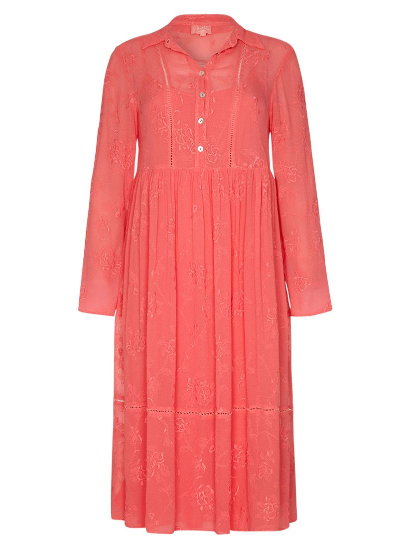 ghost embroidered tanya dress camomille blush, ghost, embroidered, tanya, dress, camomille, blush, xs|s|l|m, women, womens dresses, 1897585