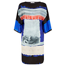 Buy Nicole Farhi Waterblock Kimono Dress, Black Online at johnlewis.com