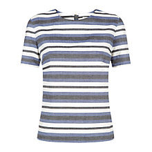 Buy People Tree Bryony Top, Blue Online at johnlewis.com