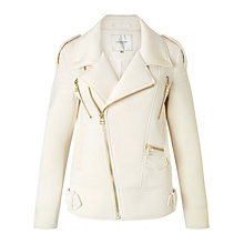 Buy Selected Femme Biker Jacket, Jet Stream Online at johnlewis.com