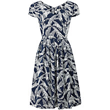 Buy People Tree Fiona Flared Dress, Navy Online at johnlewis.com