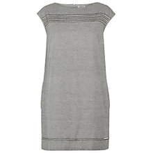 Buy People Tree Martha Embroidered Dress, Grey Online at johnlewis.com
