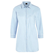 Buy Selected Femme Crispers Loose Fit Denim Shirt, Light Blue Denim Online at johnlewis.com