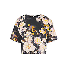 Buy Warehouse Rose Floral Top, Multi Online at johnlewis.com