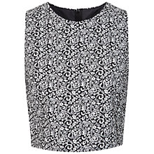 Buy Miss Selfridge Paisley Print Jacquard Top, Multi Online at johnlewis.com