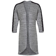Buy Miss Selfridge Lace Sleeve Cardigan, Grey Online at johnlewis.com