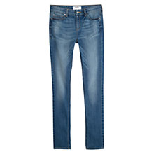 Buy Mango Slim-Fit Alice Jeans, Medium Blue Online at johnlewis.com