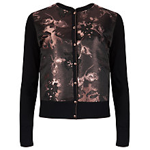 Buy Ted Baker Jacquard Cardigan, Black / Bronze Online at johnlewis.com