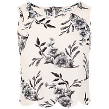 Buy Miss Selfridge Petite Print Scallop Vest Top, Multi Online at johnlewis.com