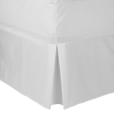 John Lewis Perfectly Smooth 200 Thread Count Egyptian Cotton Centre Pleat Valance Sheet