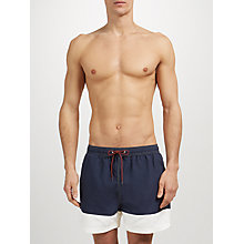 Buy Selected Homme Colour Block Swim Shorts, Blue/White Online at johnlewis.com
