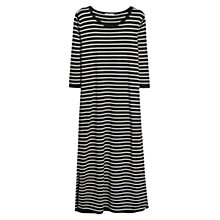 Buy Mango Striped Jersey Dress, Black Online at johnlewis.com