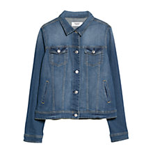 Buy Mango Distressed Denim Jacket Online at johnlewis.com