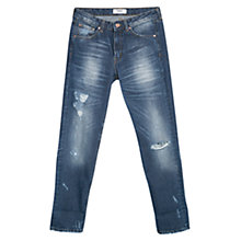 Buy Mango Boyfriend Lucky Jeans, Navy Online at johnlewis.com
