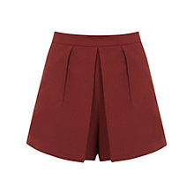Buy Miss Selfridge Crepe Fold Skort, Rust Online at johnlewis.com