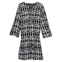 Buy Violeta by Mango Ethnic Print Dress, Black Online at johnlewis.com