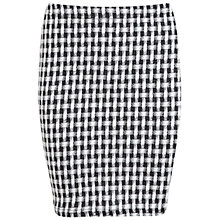 Buy Miss Selfridge Basket Weave Mini Skirt, Black Online at johnlewis.com