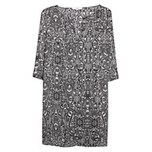 Buy Mango Paisley Print Dress, Natural White Online at johnlewis.com