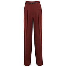 Buy Miss Selfridge Wide Leg Trousers, Rust Online at johnlewis.com