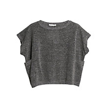 Buy Mango Metal Thread Knit Top, Dark Grey Online at johnlewis.com