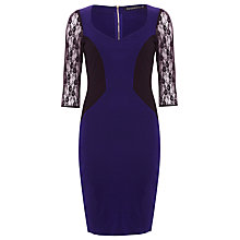 Buy Sugarhill Boutique Tiffany Dress, Midnight Blue / Black Online at johnlewis.com