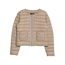 Buy Mango Water Repellent Quilt Jacket, Brown Online at johnlewis.com